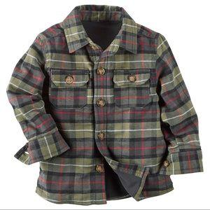 Toddler Boys Flannel Shirt